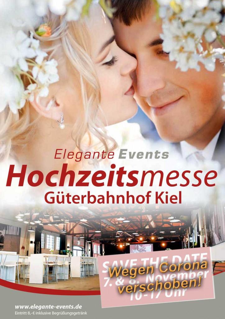 Elegante Events Hochzeitsmesse Kiel am 7. + 8. November 2020 im alten Güterbahnhof! verschoben