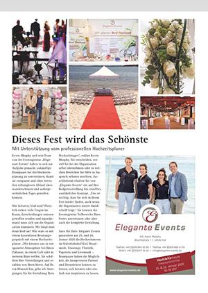 Elegante Events in Kuchenbuchs Hochzeiten in Hamburg - Ausgabe Q4-2019