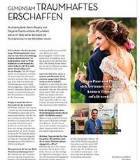 Bericht KielerLeben über Elegante Events als Hochzeitsplaner in der Ausgabe Februar 2018. Gemeinsam Traumhaftes erschaffen - Vorschau