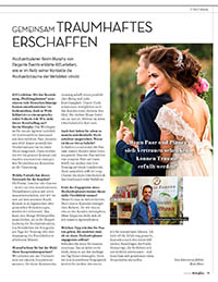 Bericht KielerLeben über Elegante Events als Hochzeitsplaner in der Ausgabe Februar 2018. Gemeinsam Traumhaftes erschaffen