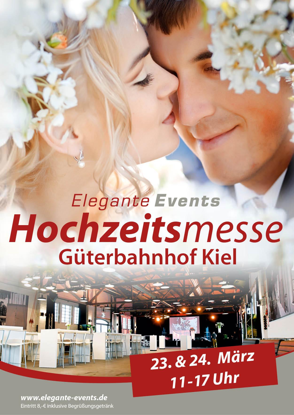 Hochzeitsmesse in Kiel im alten Kieler Güterbahnhof am 23. + 24. Februar 2019.