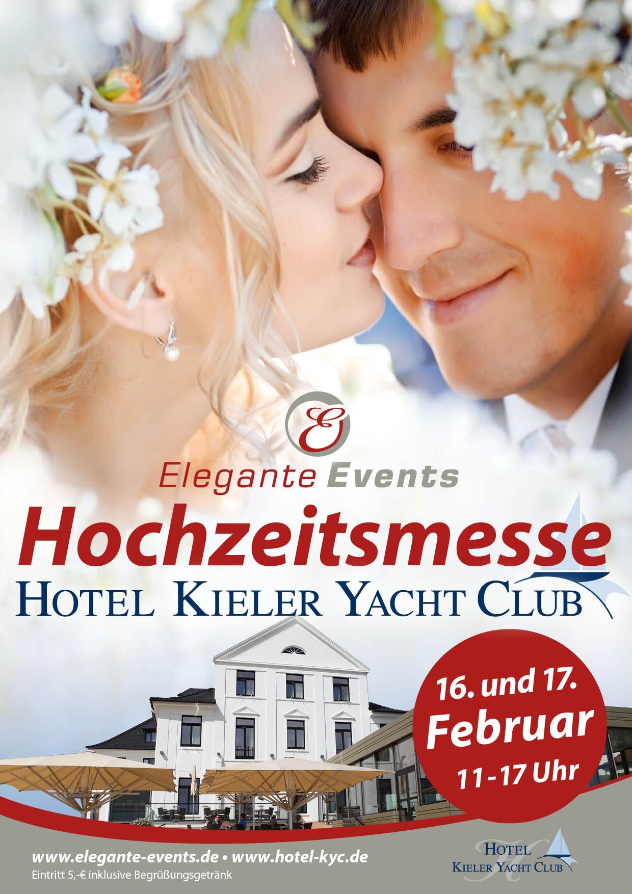 Hochzeitsmesse im Kieler Yachtclub am 16. + 17. Februar 2019.